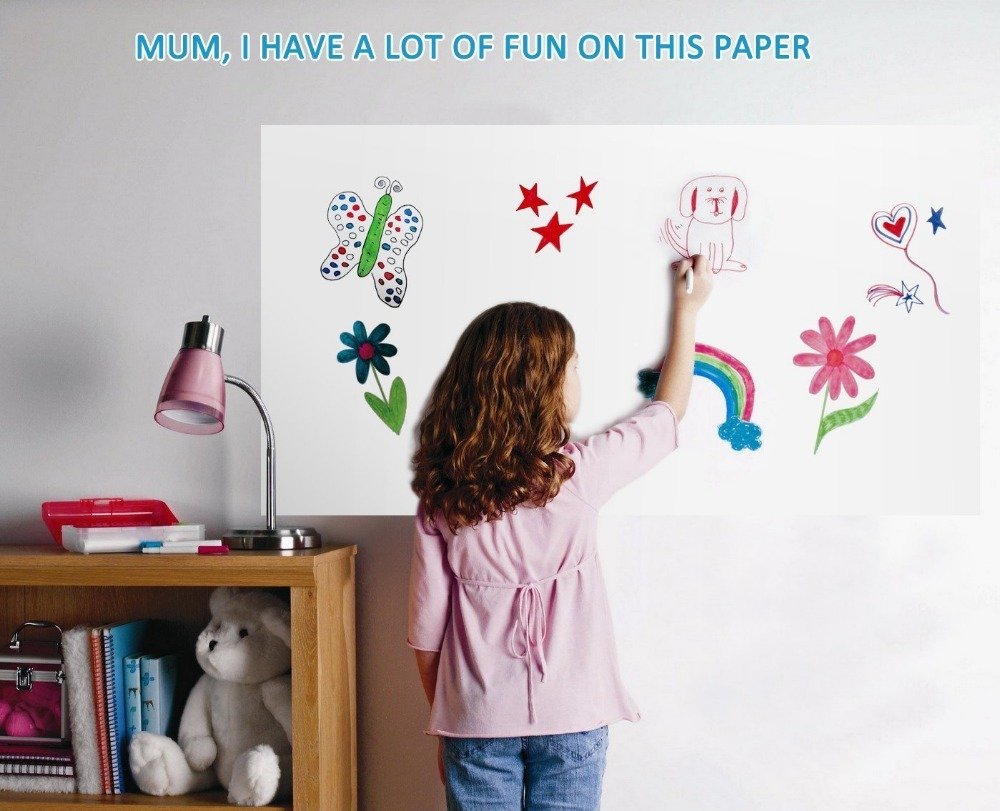 Customized Size Self adhesive whiteboard sticker PET film for classroom